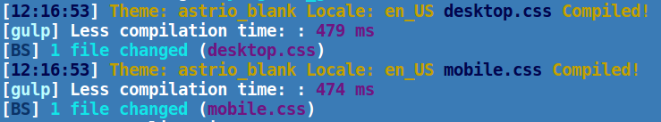 Замеры скорости компиляции less с использованием gulp