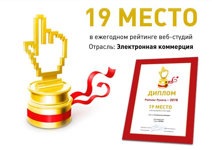 Рейтинг Рунета - Мы в ТОП-20 ведущих агентств в сфере eCommerce