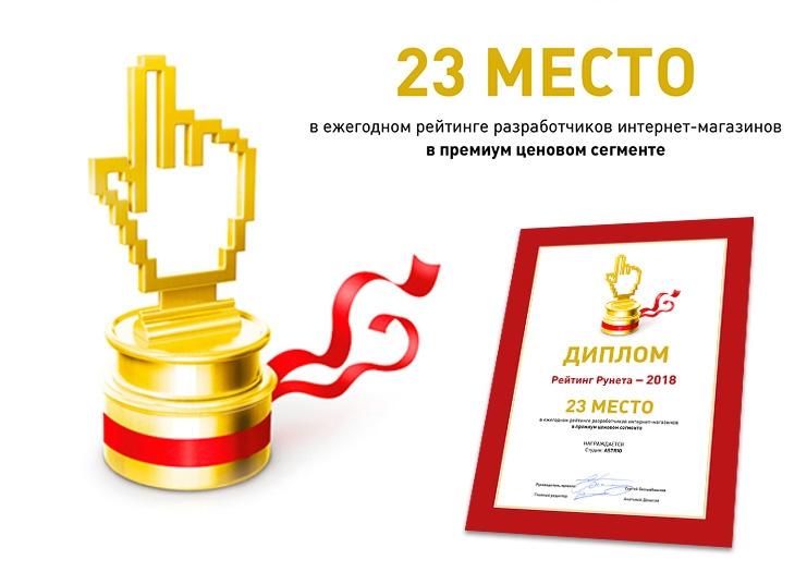 Рейтинг Рунета - Рейтинг разработчиков интернет-магазинов премиум сегмента
